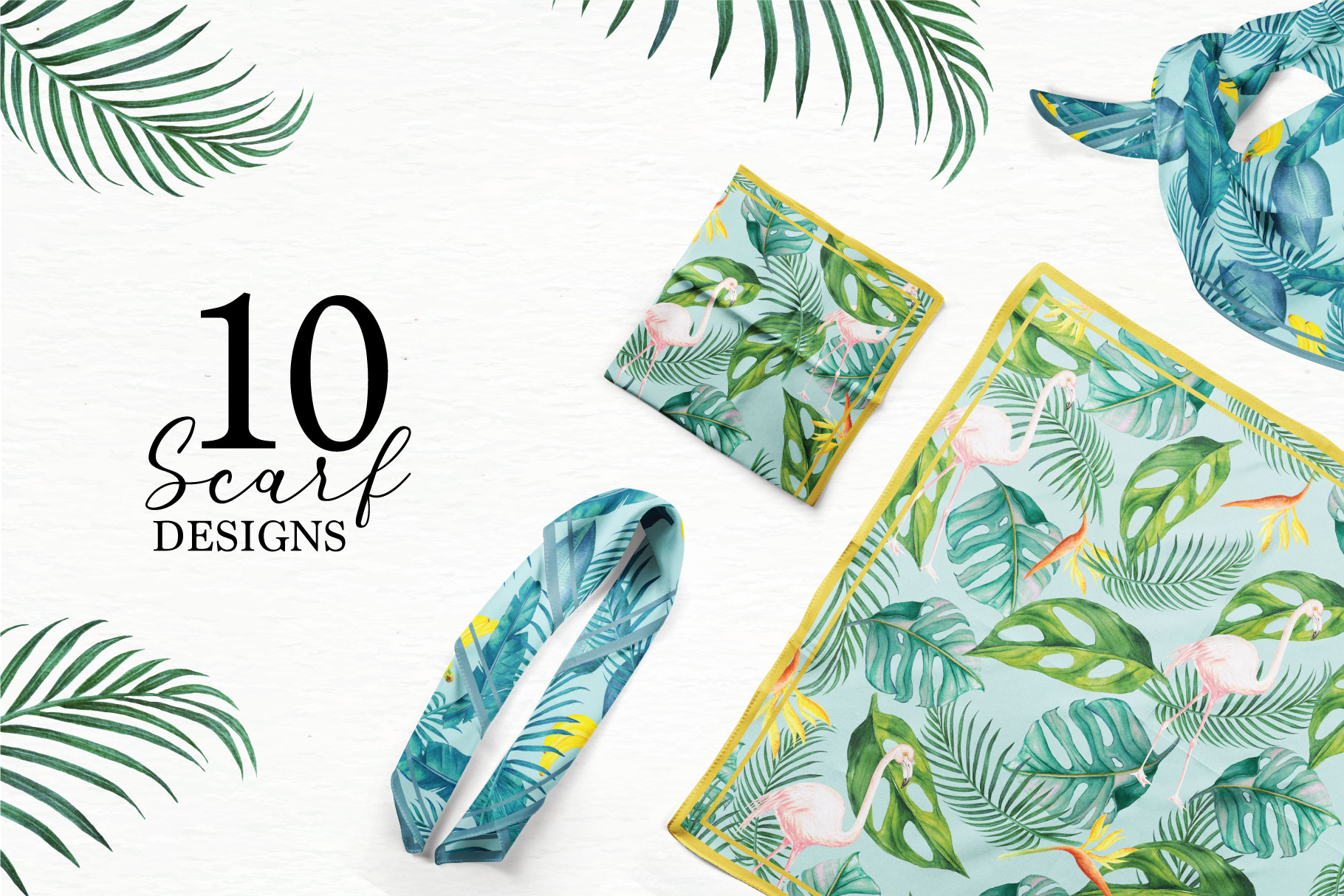 Tropical Collection - 65 Watercolor Elements example image 4
