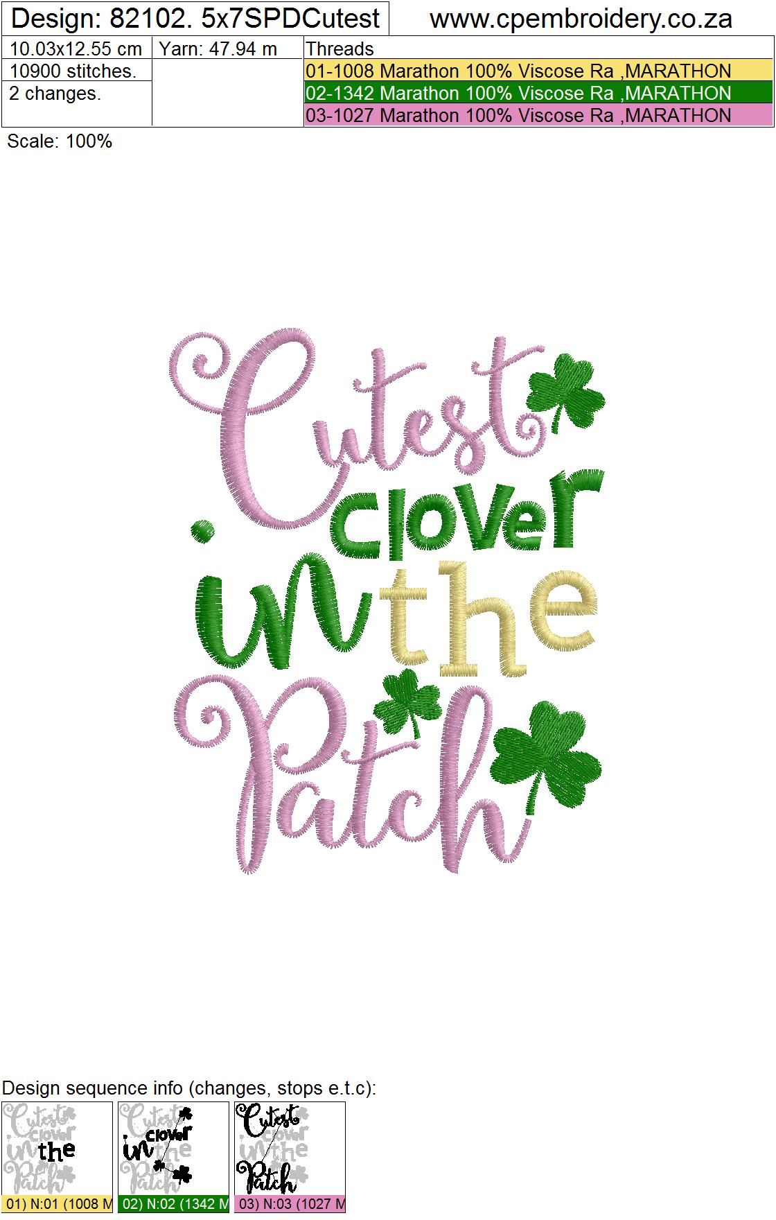 Cutest Clover in the Patch St Patrick's Day Design example image 5