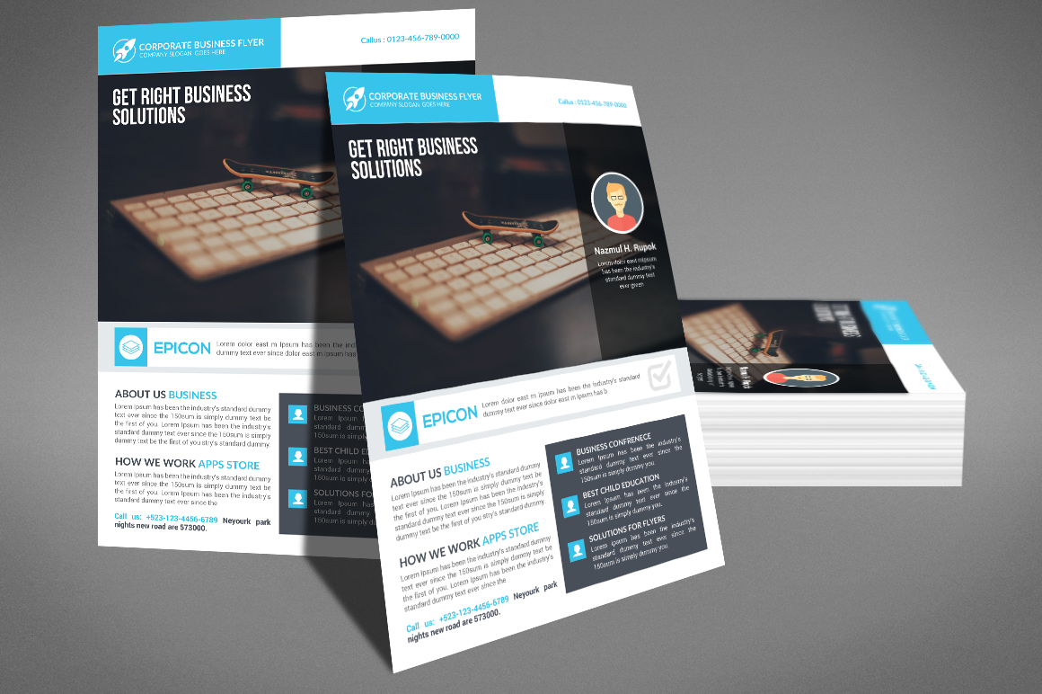 Professional Corporate Business Flyer example image 3