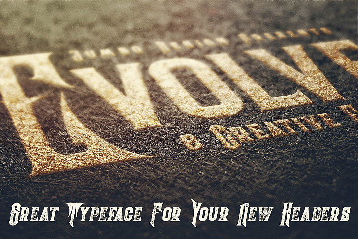 Evolve - Vintage Style Font example image 4
