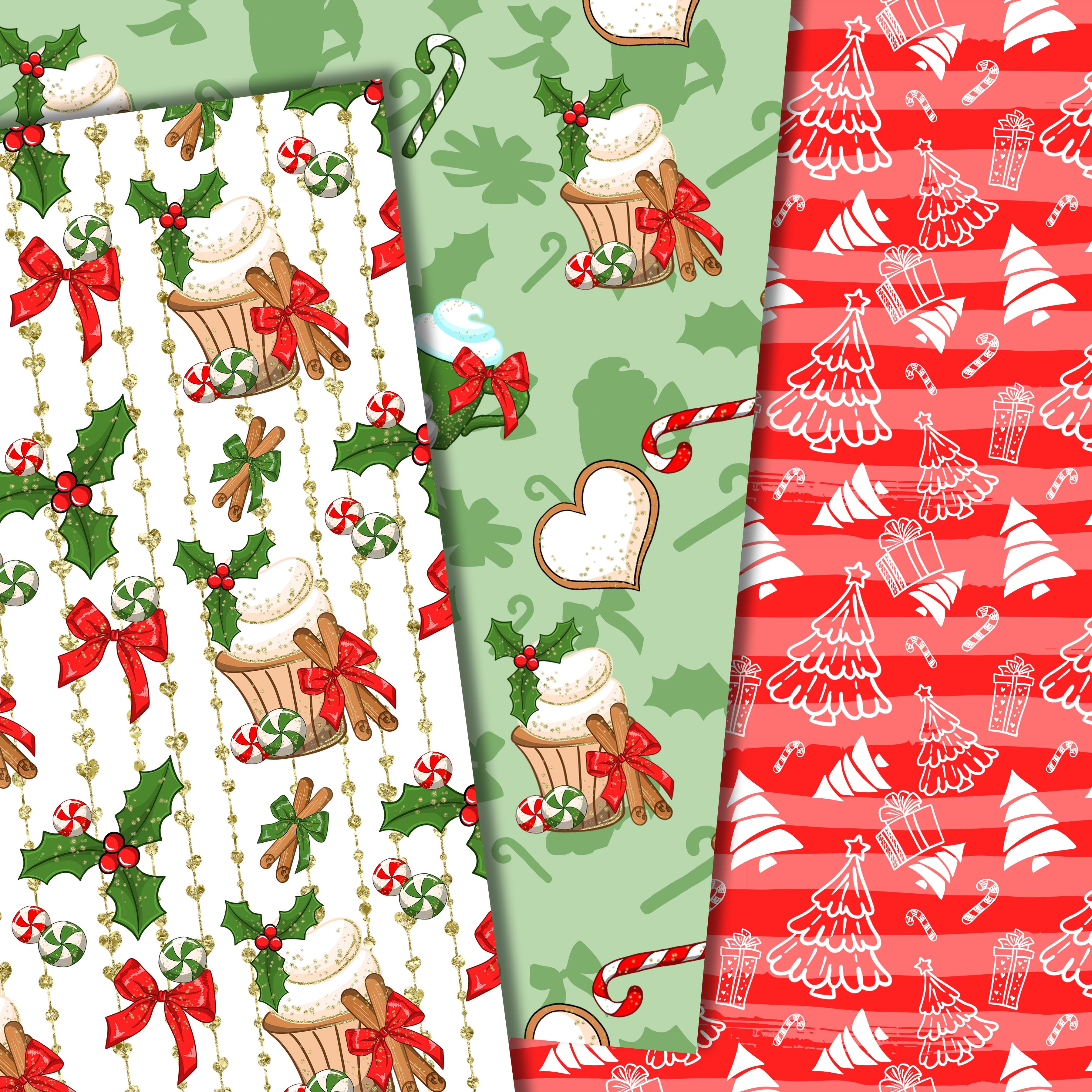 Christmas sweets patterns example image 6