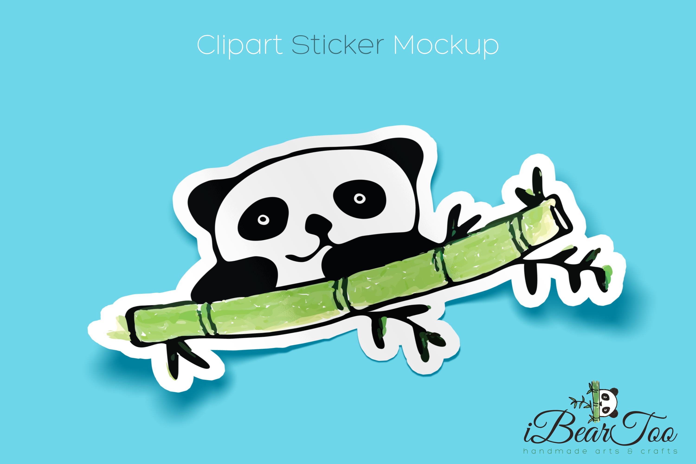 Panda SVG Watercolor Clipart Bear Drawing Vector Cut File example image 6