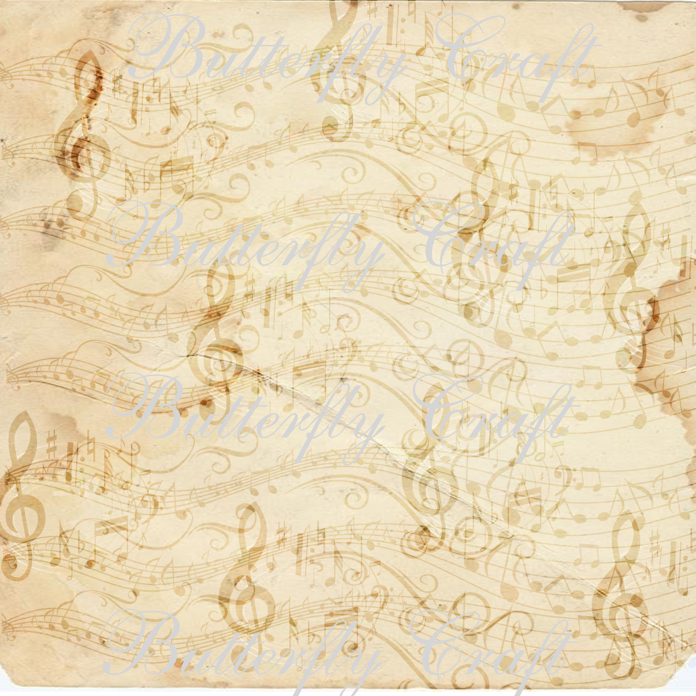 music notes scrapbook paper  vintage music digital paper