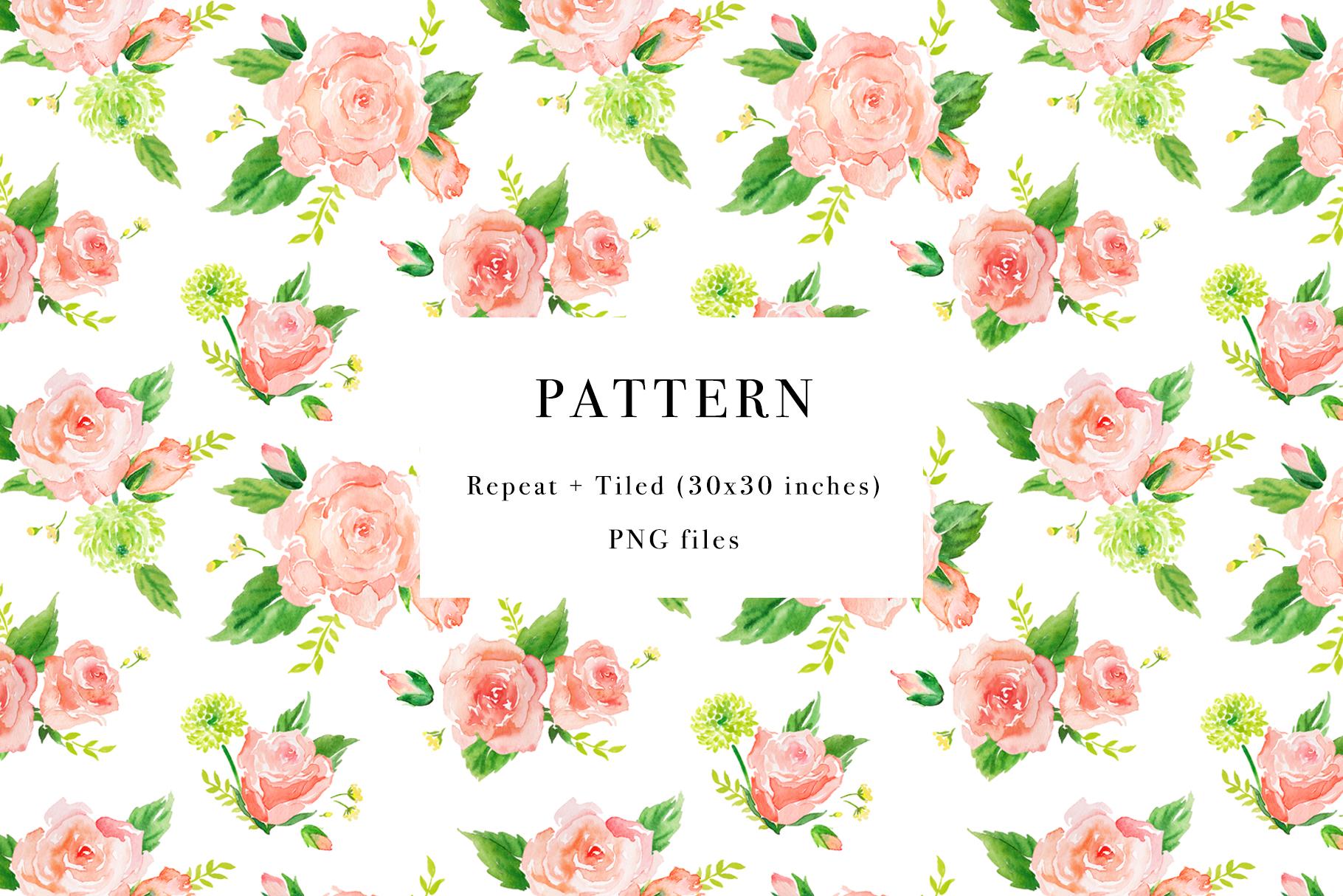 Floral Watercolor Bundle example image 27