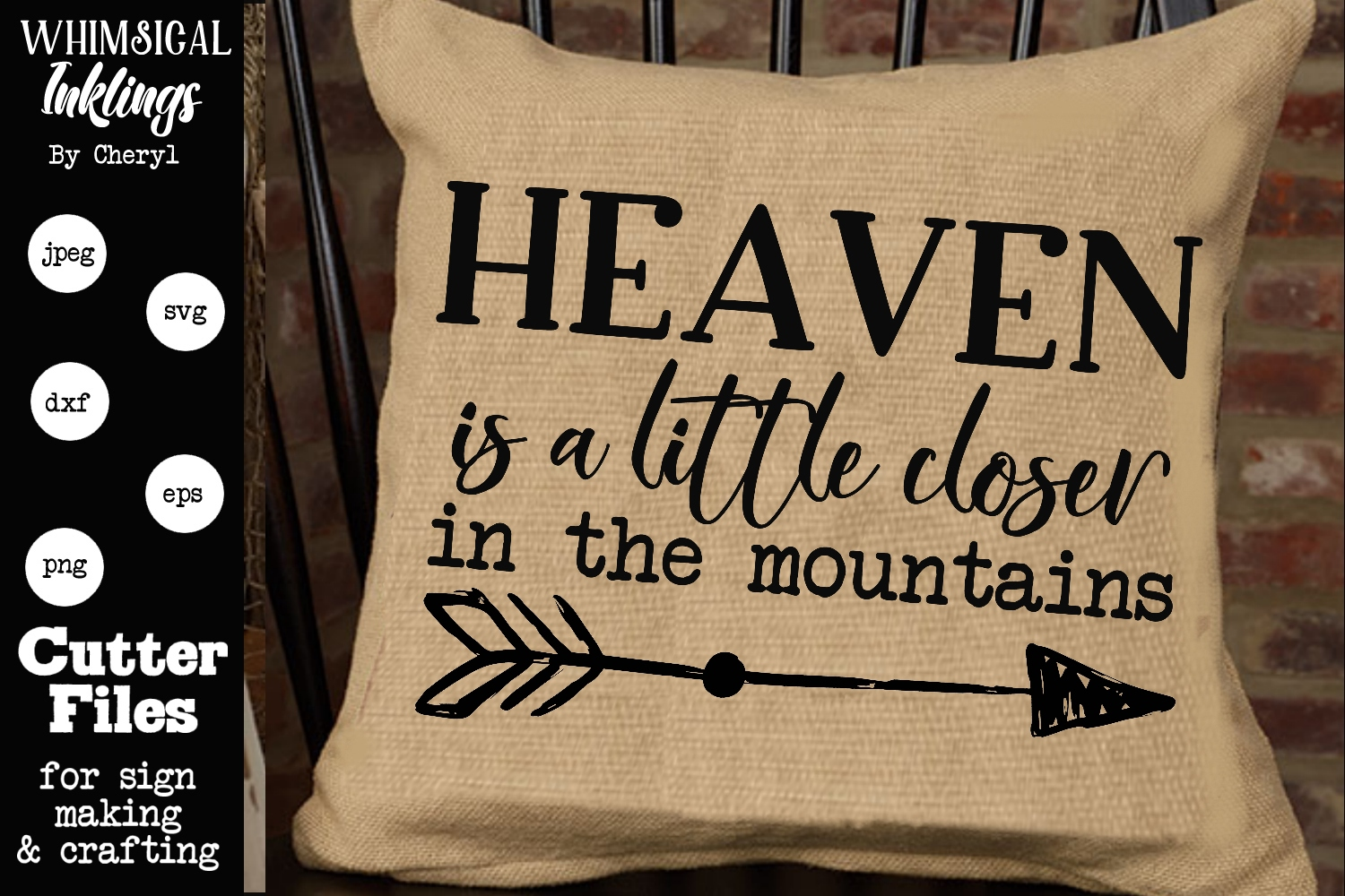 Heaven Is A Little Closer SVG example image 1