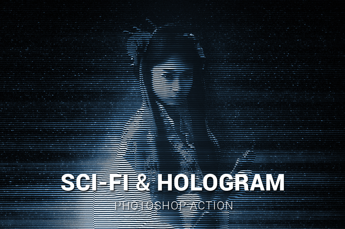 Sci-Fi And Hologram Photoshop Action example image 1