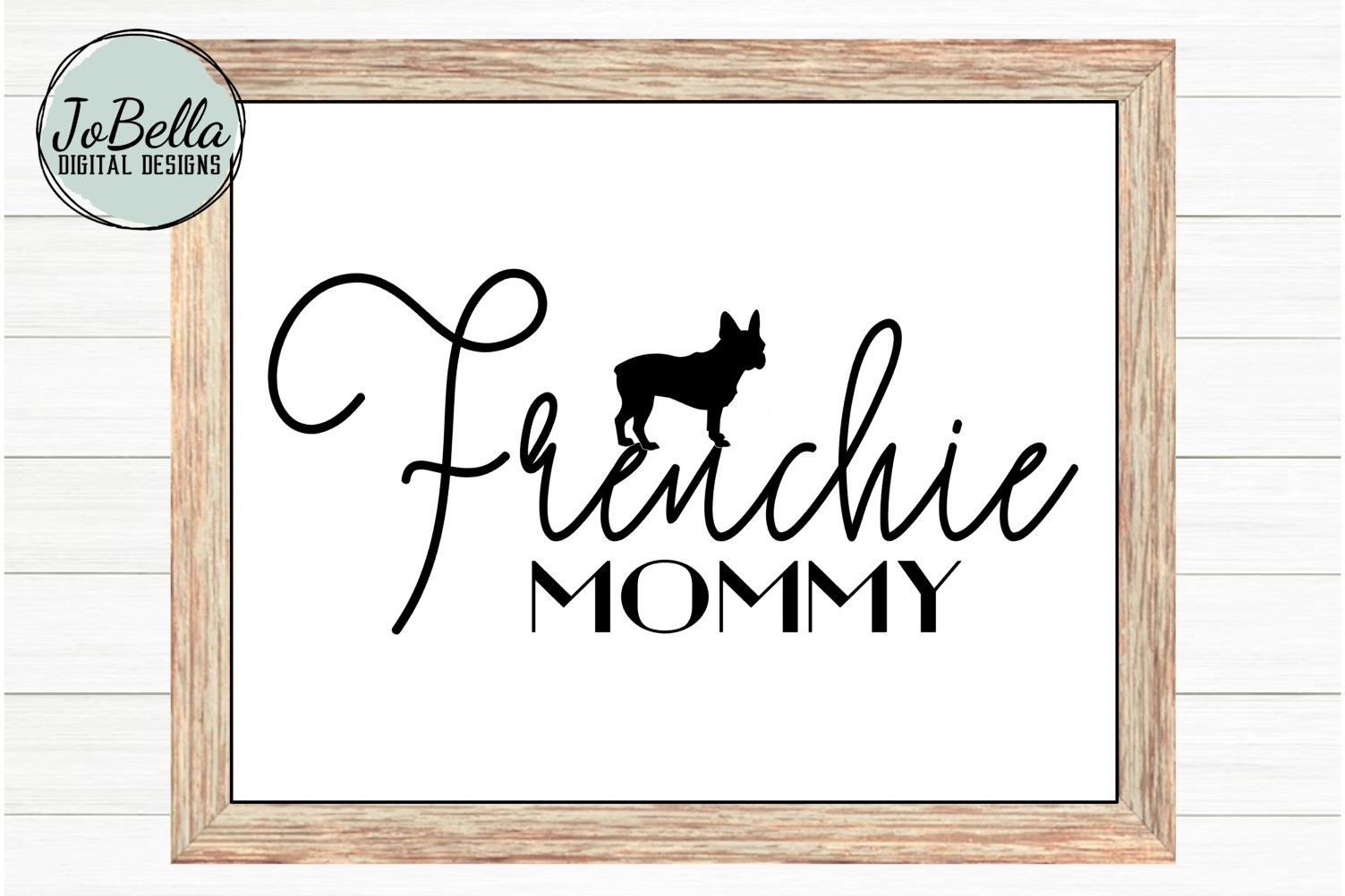 Frenchie Mommy SVG and Printable Dog Lover Design example image 2