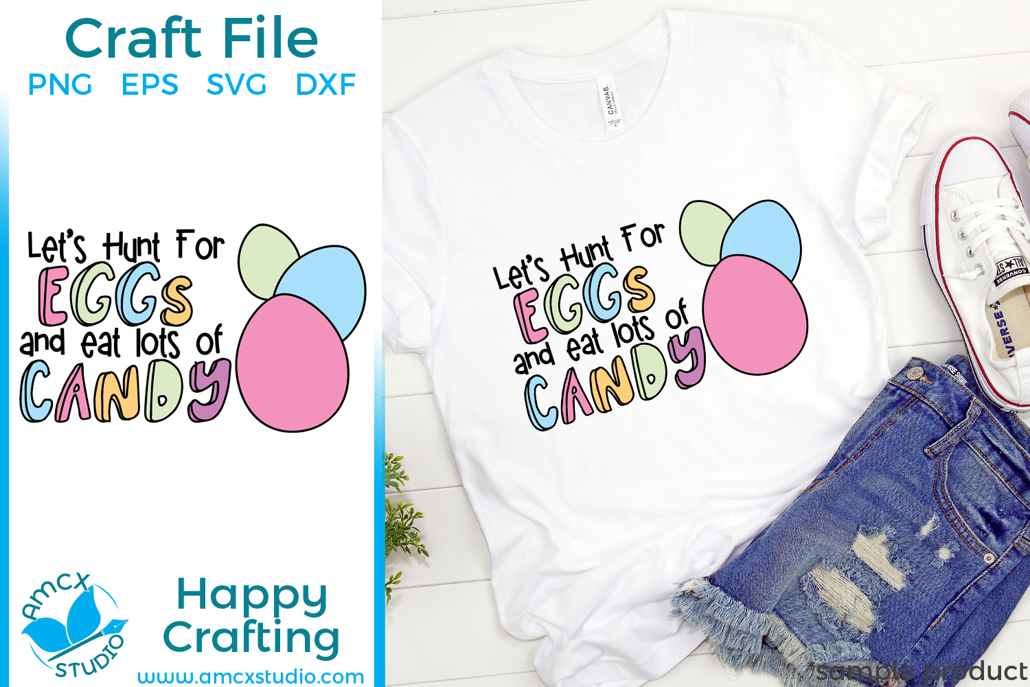 Let's Hunt Eggs - Easter Cut Craft Files example image 2