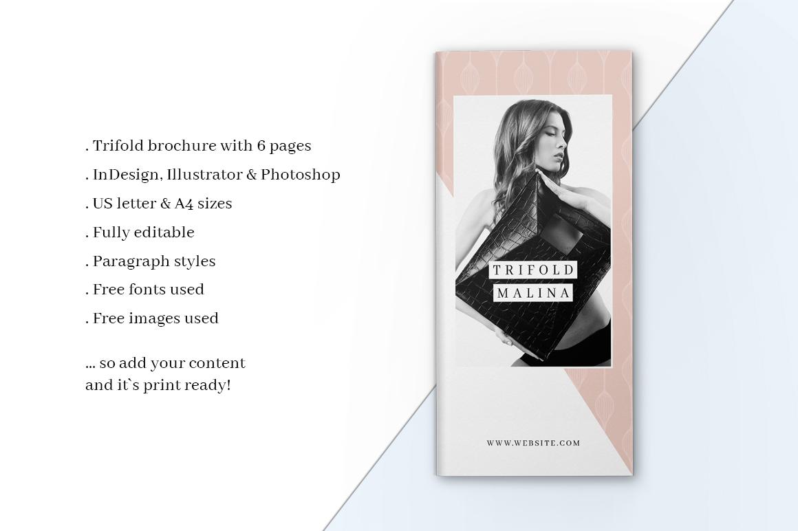MALINA Trifold Brochure + Pattern example image 5