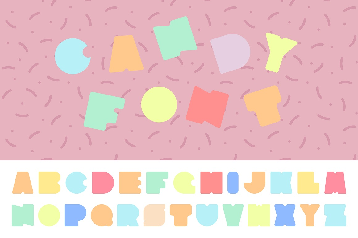 Bright colorful font. Funny alphabet example image 1