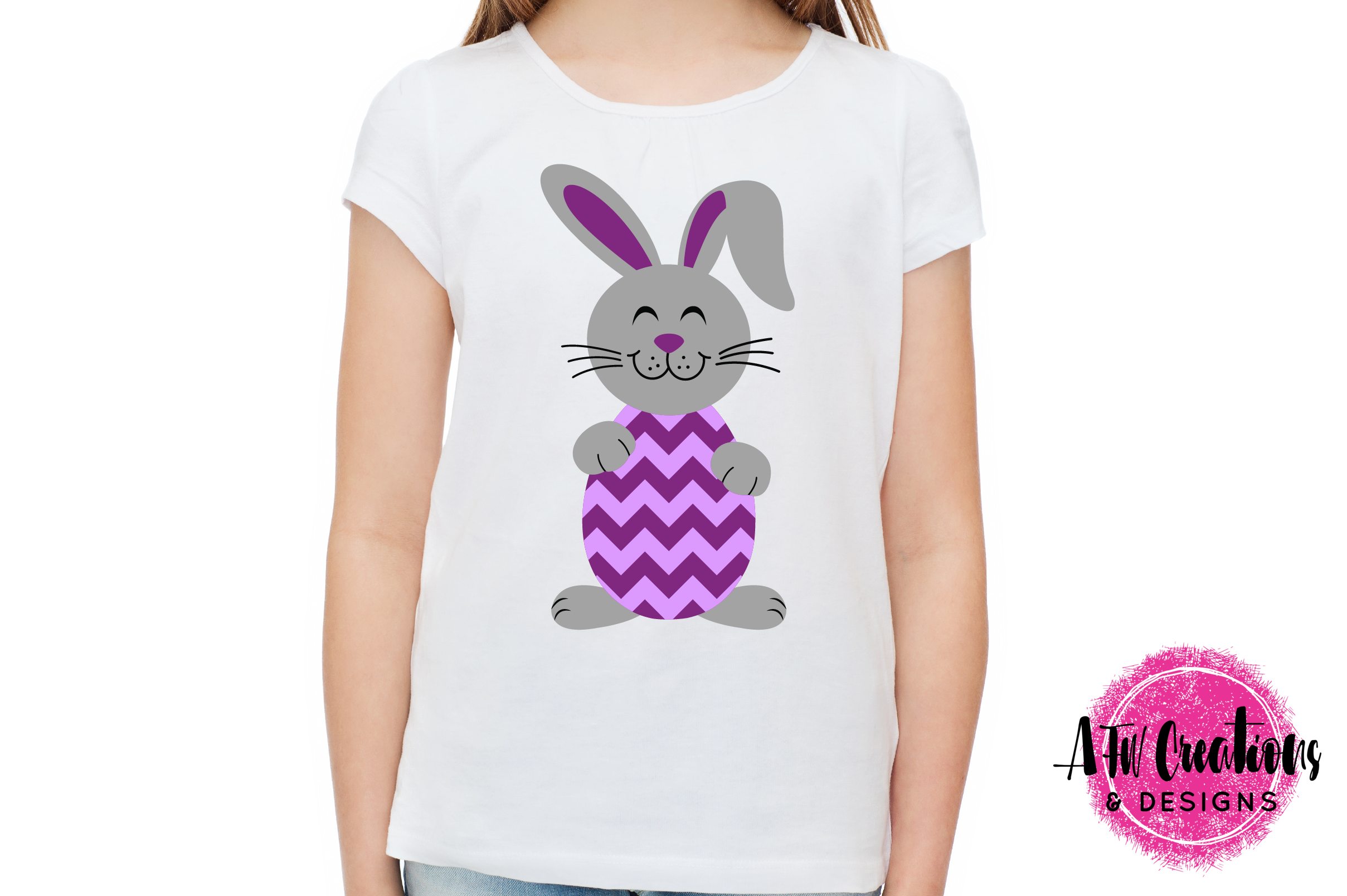 Easter Bunny Eggs- SVG, DXF, EPS Cut Files example image 2