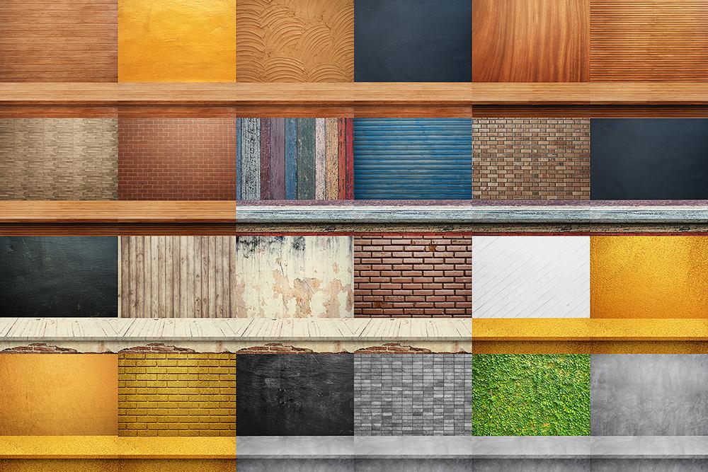 100 Realistic Shelves on Wall. Set 1 example image 5