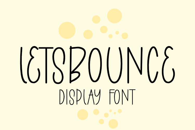 LETSBOUNCE DISPLAY CAPS FONT example image 1