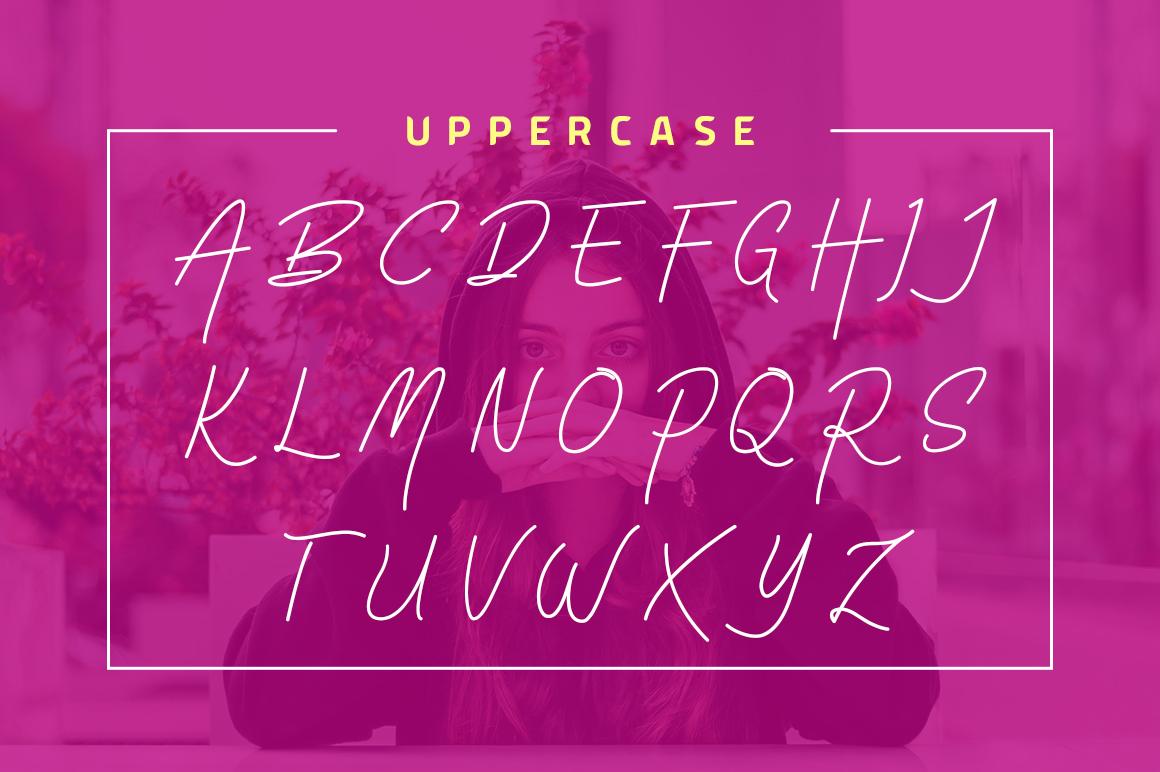 Virginia Od Script Font example image 5