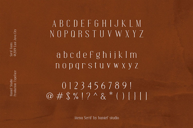 Atena - Serif Font example image 7