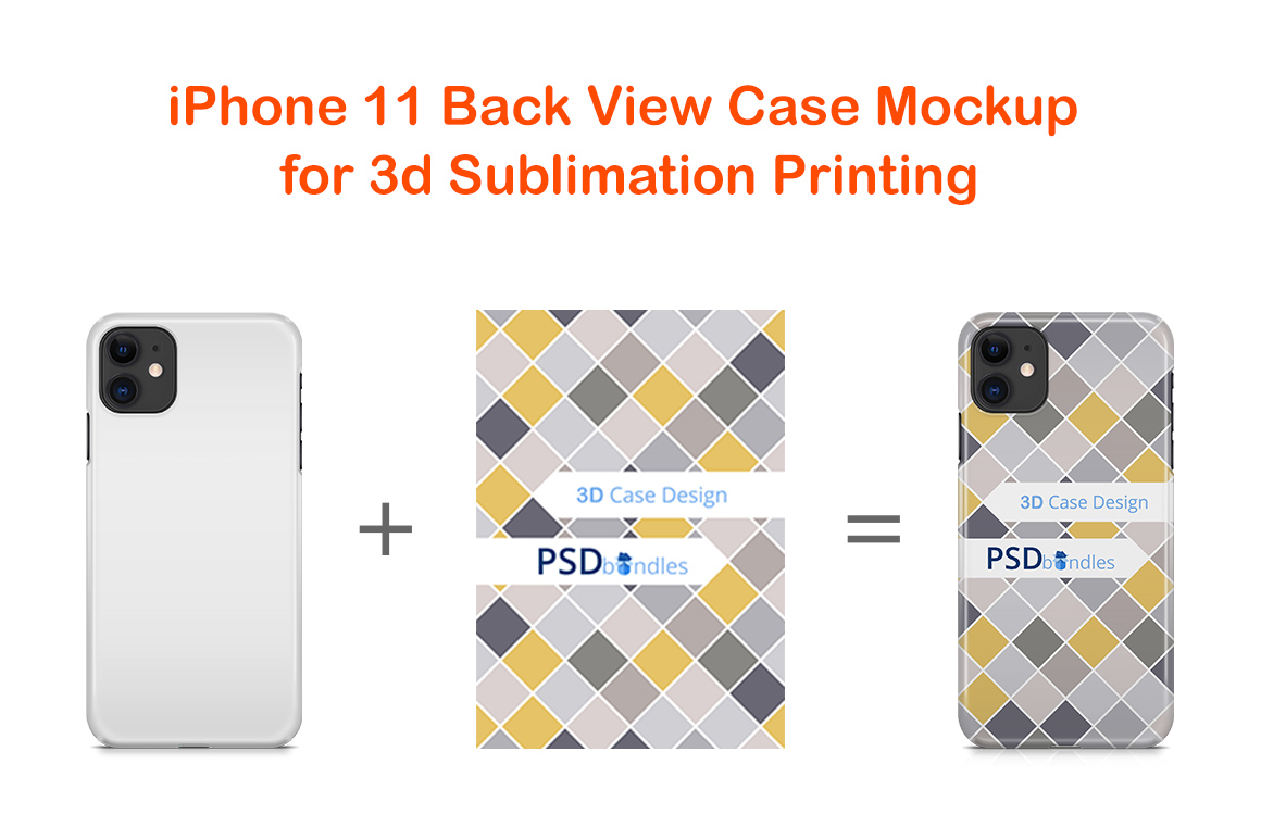 Apple iPhone11 3d Phone Case Mock-up example image 2