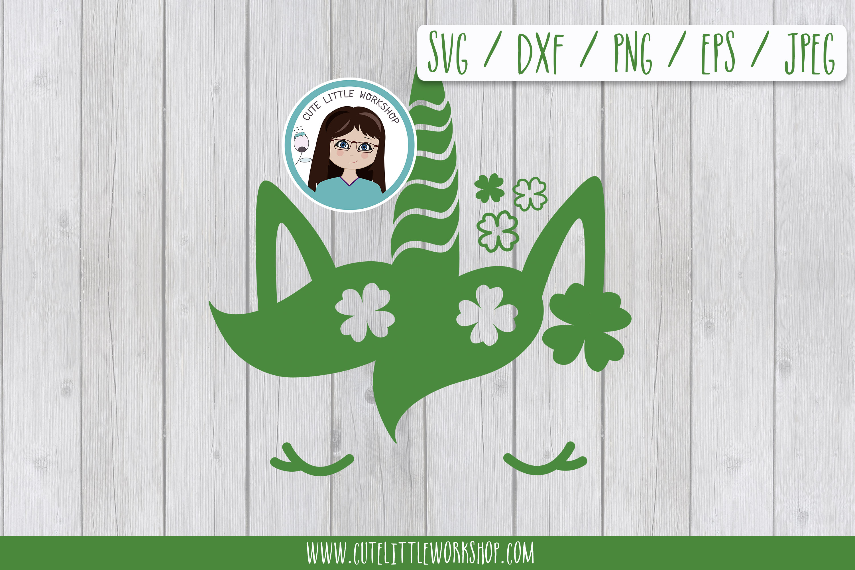 St. patricks's unicorn SVG DXF PNG JPEG EPS example image 1