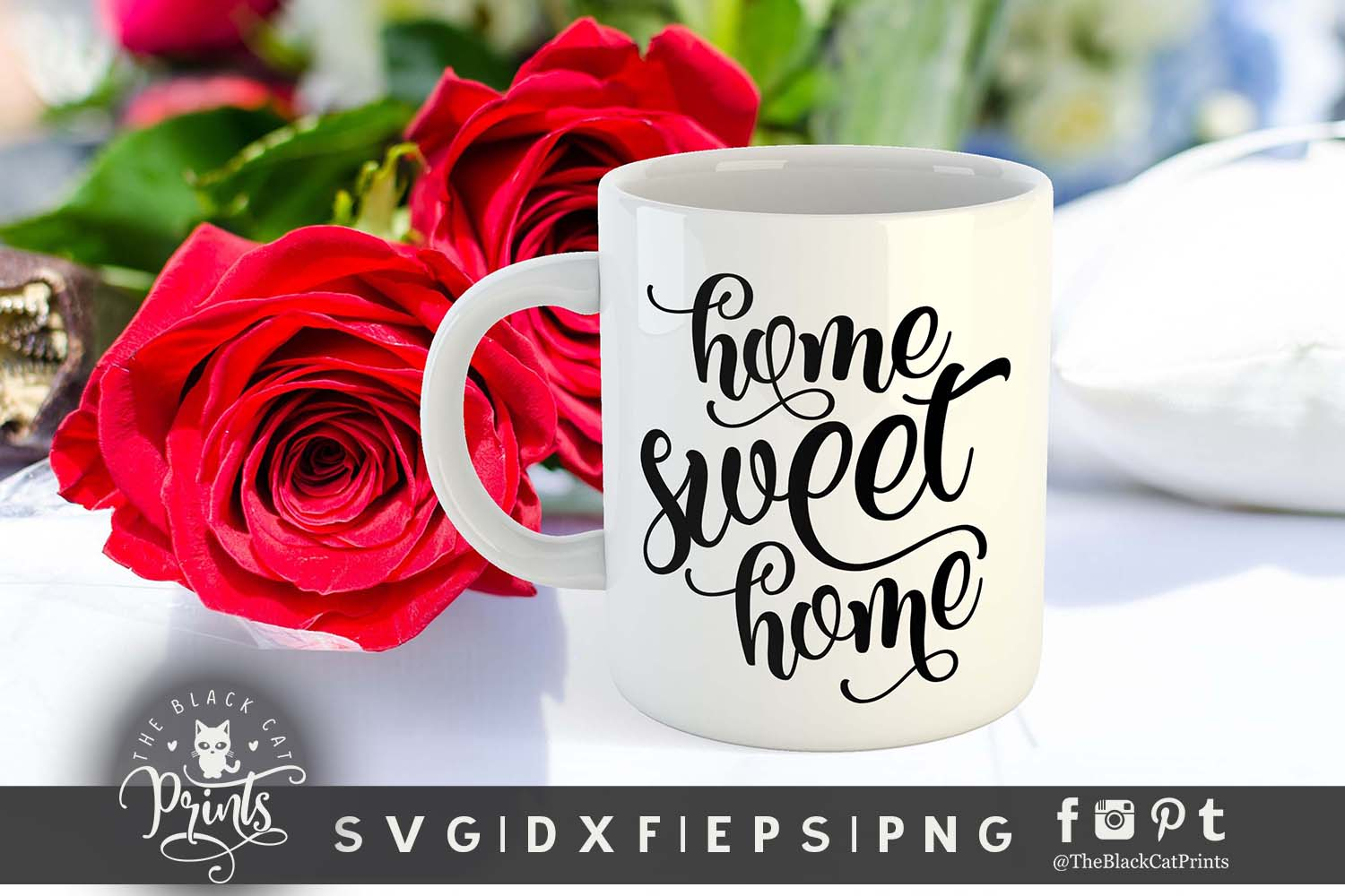 Home sweet home SVG PNG EPS DXF example image 3