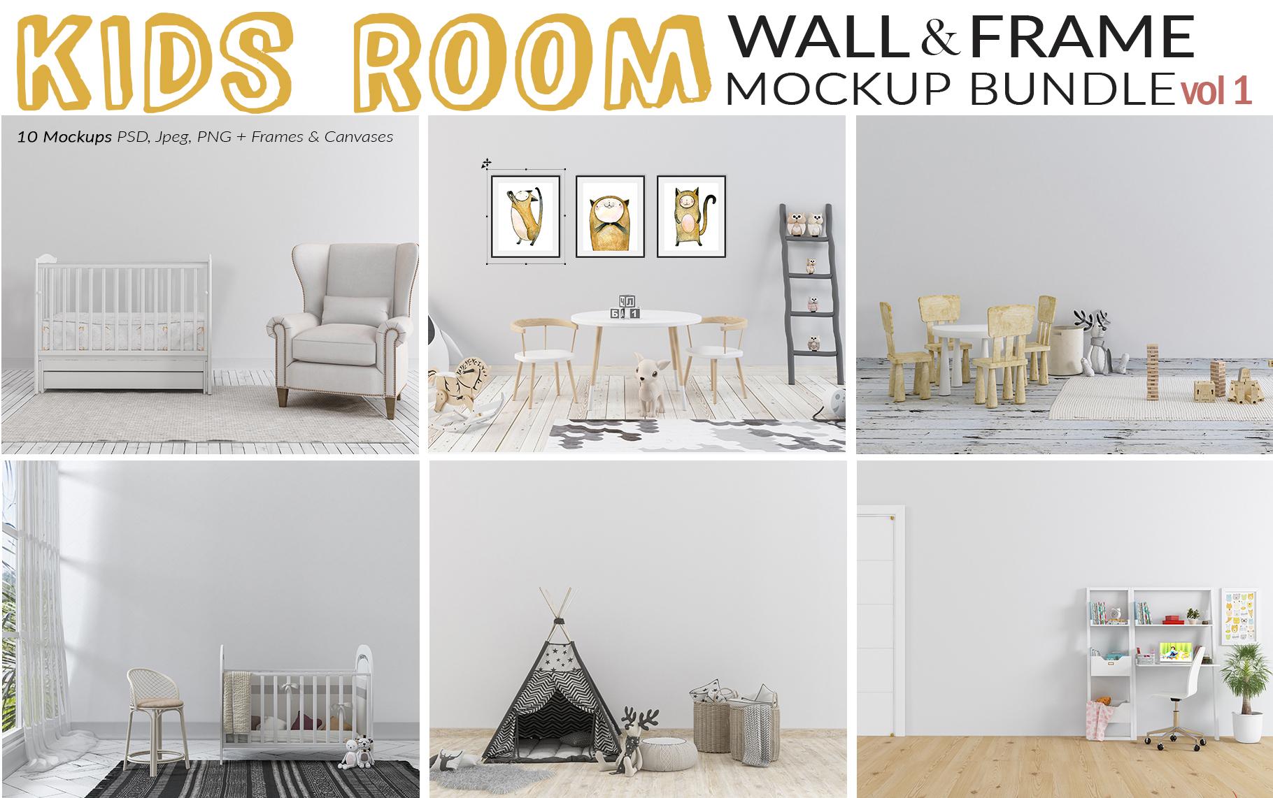 Massive Interior Wall Mockup, Frame Mockup Bundle FREE sampl example image 15