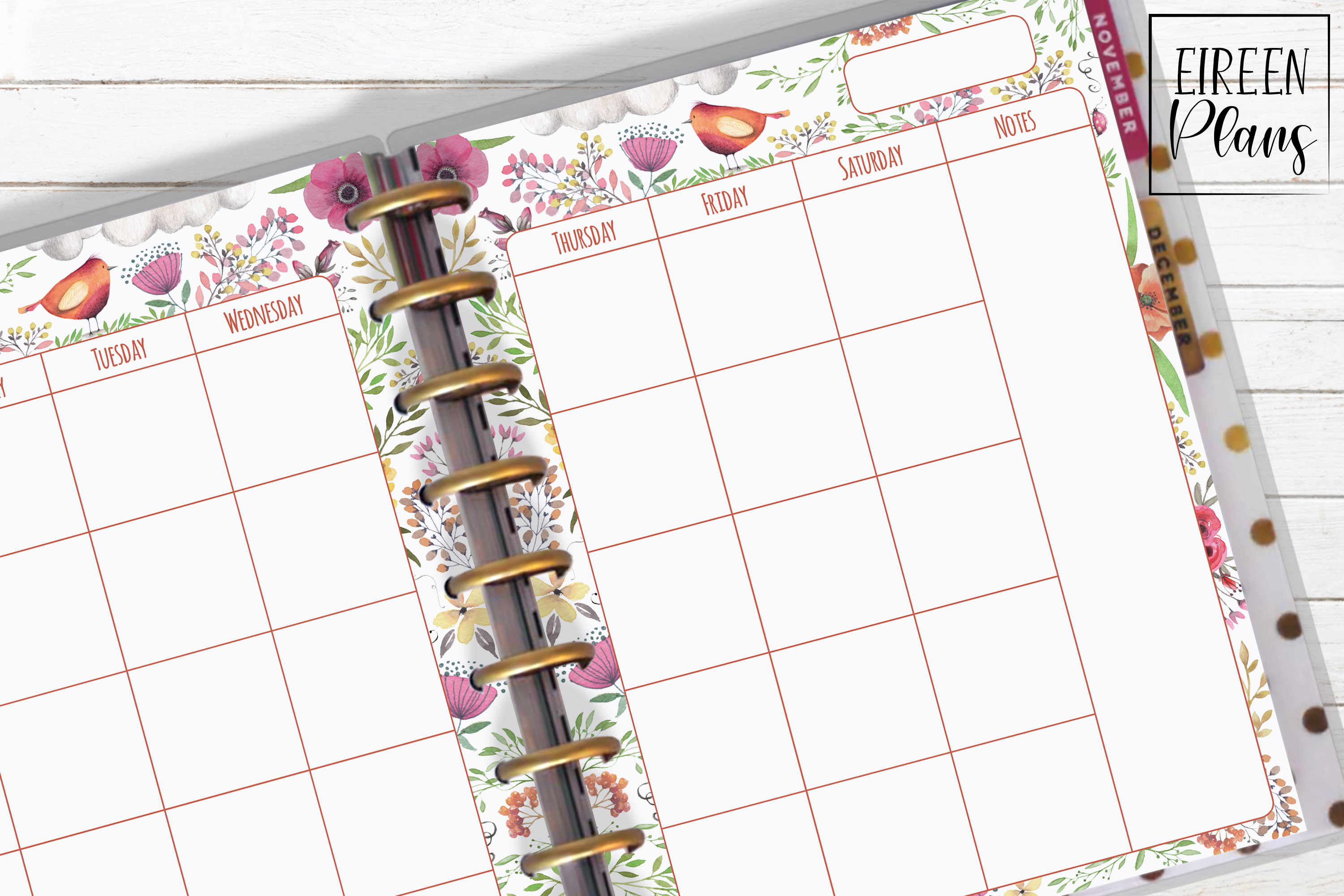 Monthly Printable for Classic Happy Planner example image 1