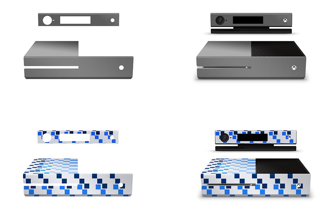 xbox one console skin design mockup template