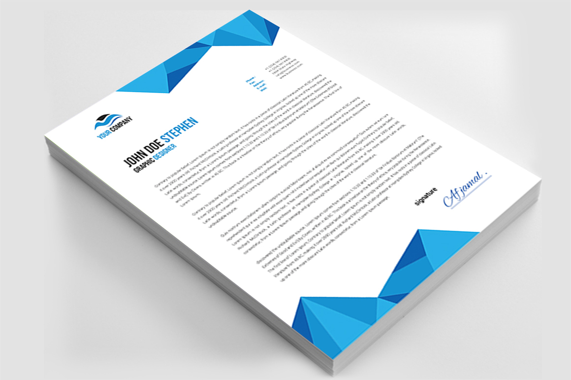 12 Clean Rsume Invoice and Letterhead Bundle example image 5
