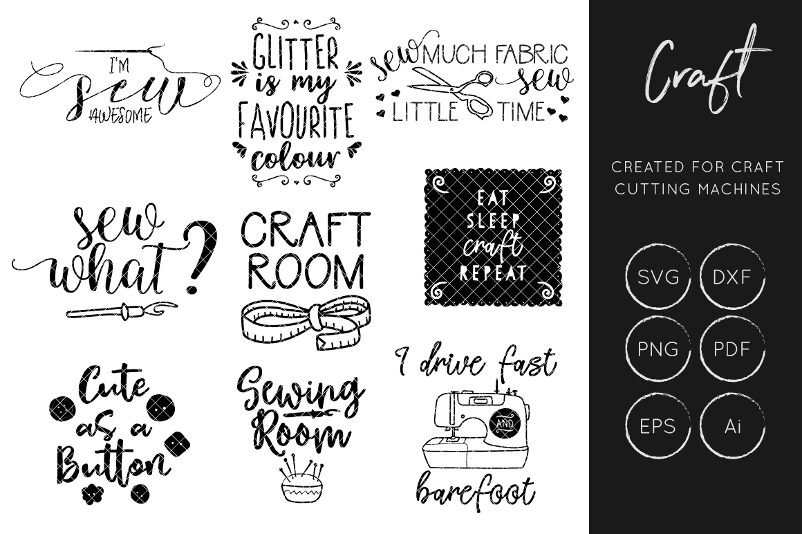 Sewing And Crafters Bundle Svg Cut File Sewing Svg