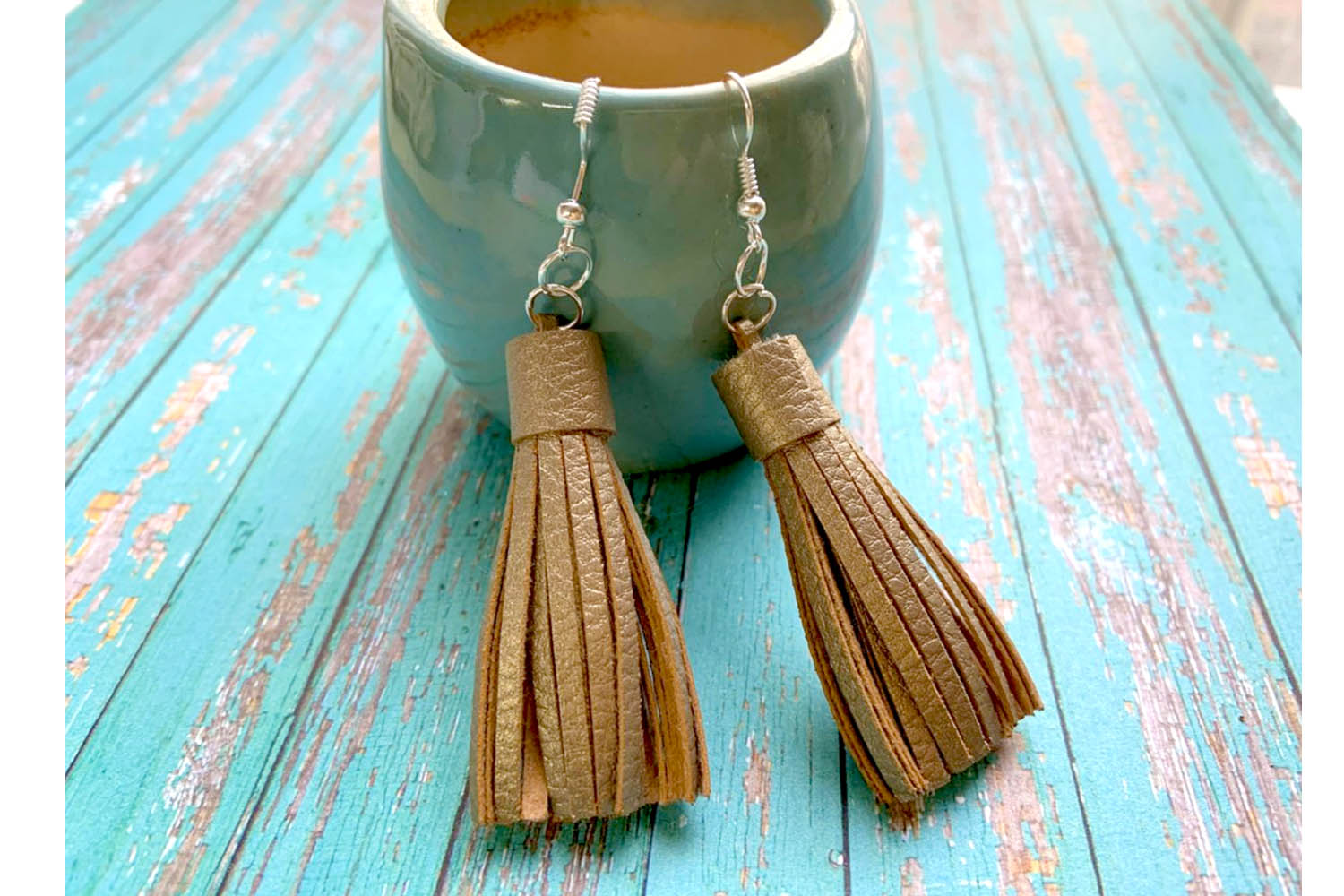 9 Sizes Tassel Templates. Paper tassels. Faux leather Tassel example image 2