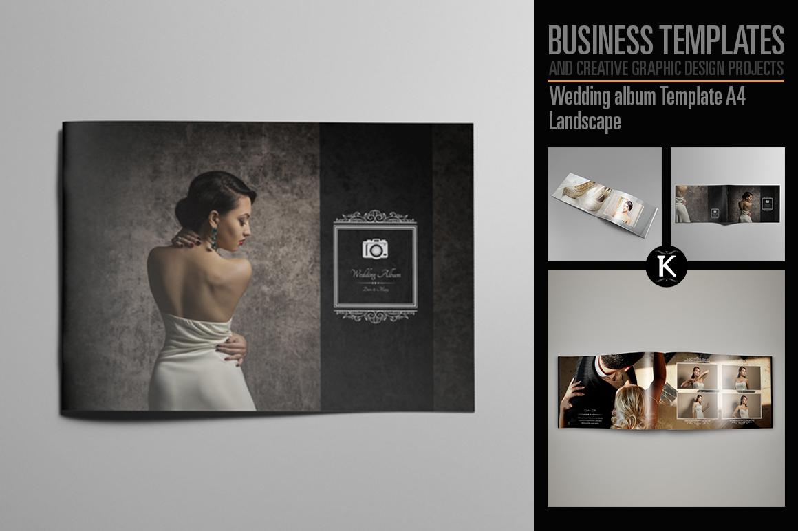Wedding album Template A4 Landscape example image 1