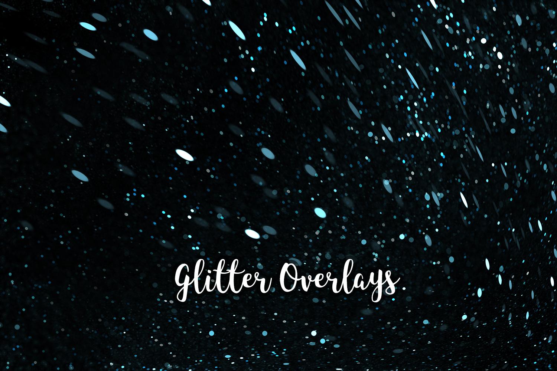 Glitter Dust Overlays, Glitter Bokeh Texture Overlays example image 4