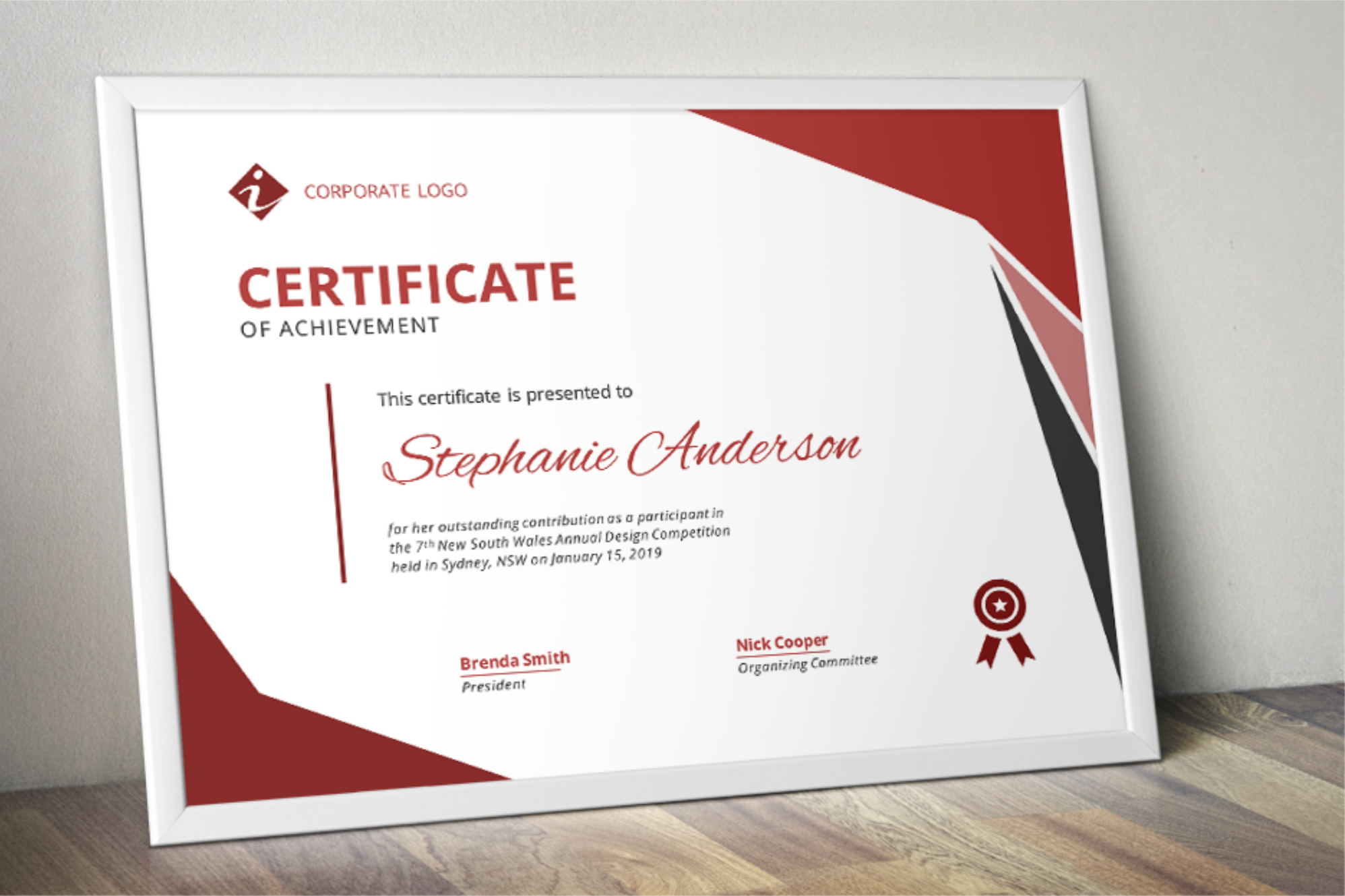 certificate word template modern templates designer company ms follow example license inkpower creativemarket