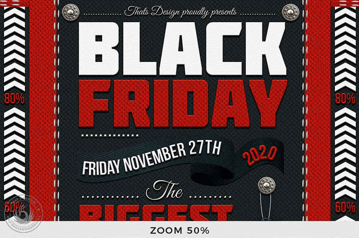 Black Friday Flyer Template example image 7