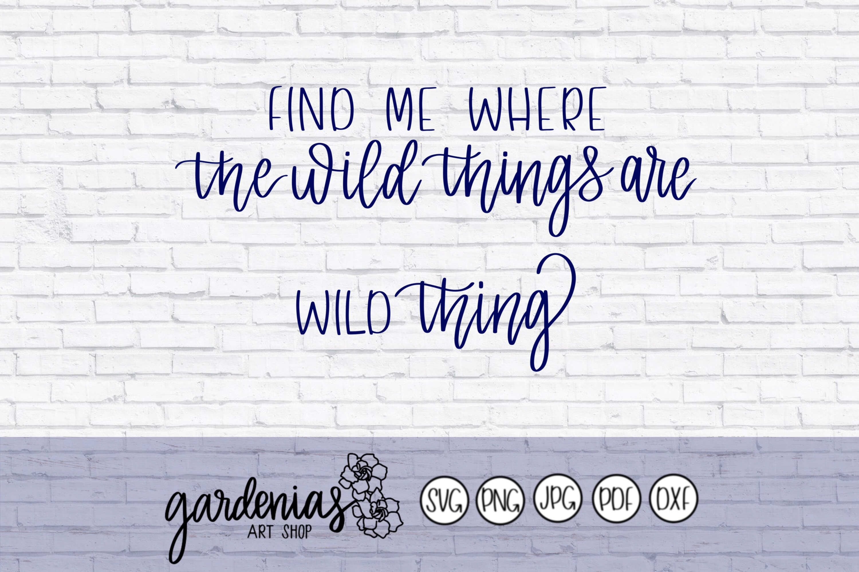 Find Me Where The Wild Things Are - Wild Thing example image 2
