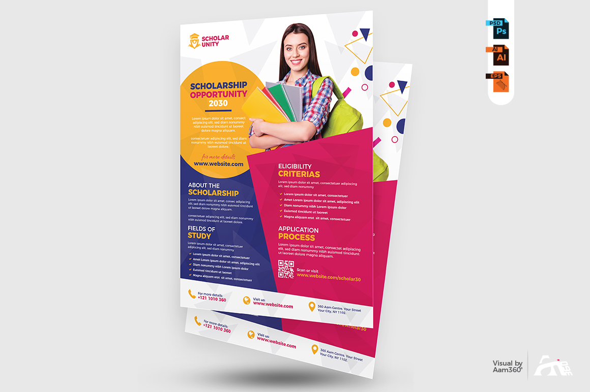 Scholarship Program Flyer Template example image 3