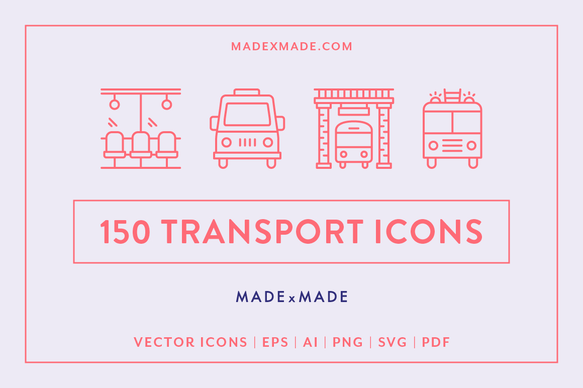 Line Icons  Transport example image 1