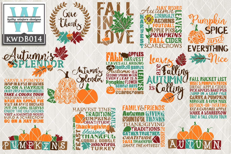 BUNDLE Autumn Cutting Files KWDB014 example image 1