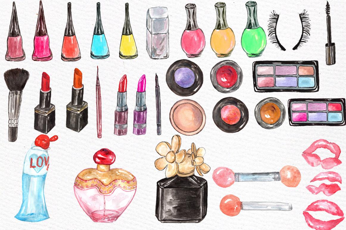 Watercolor makeup set example image 3