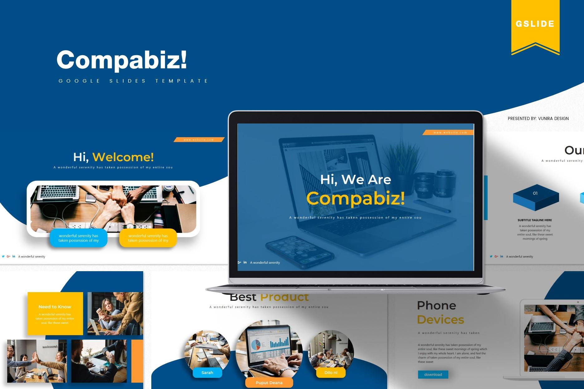 Compabiz! | Powerpoint, Keynote, GoogleSlides Template example image 3