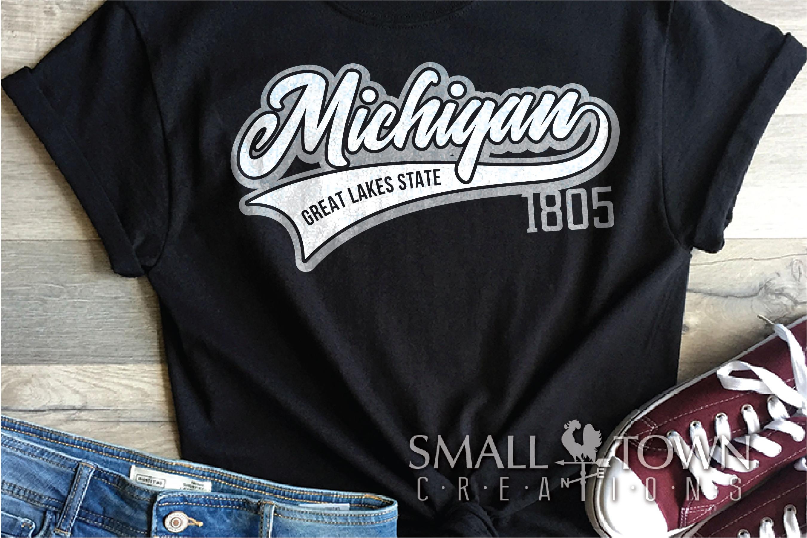 Michigan, Great Lake States - slogan, PRINT, CUT & DESIGN example image 2