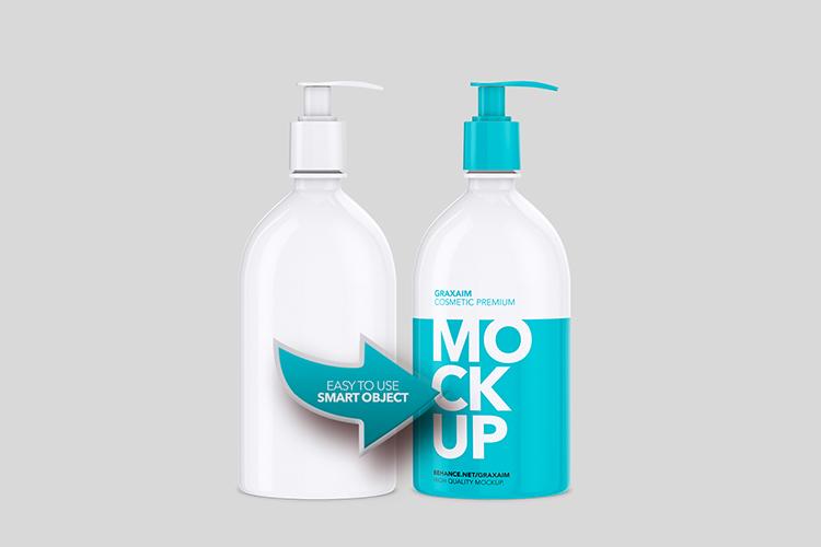 Mockup - Shampoo Bottle with Lotion Pump 500ml example image 3