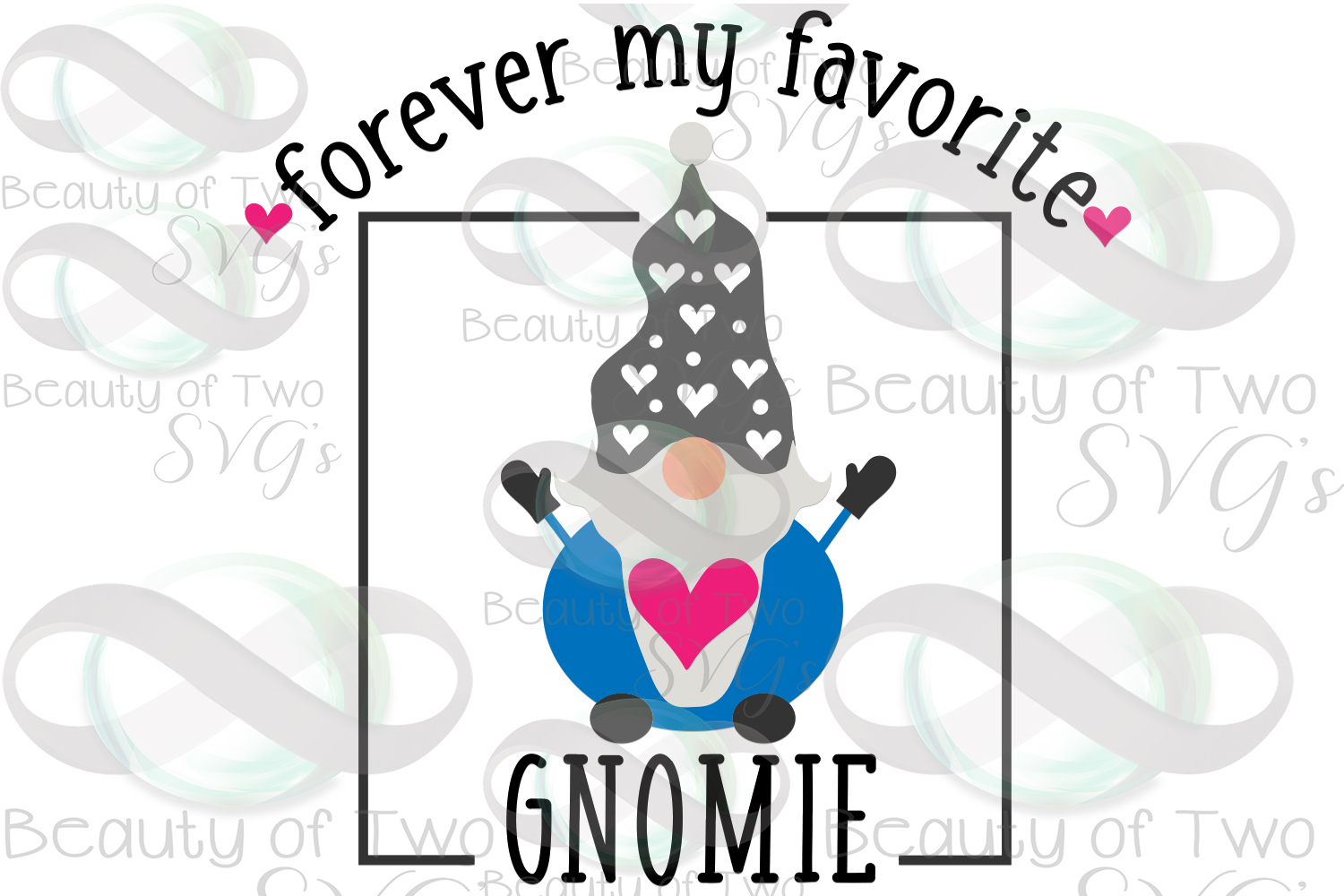 Valentines Forever my favorite gnomie svg, gnome sign svg, example image 3