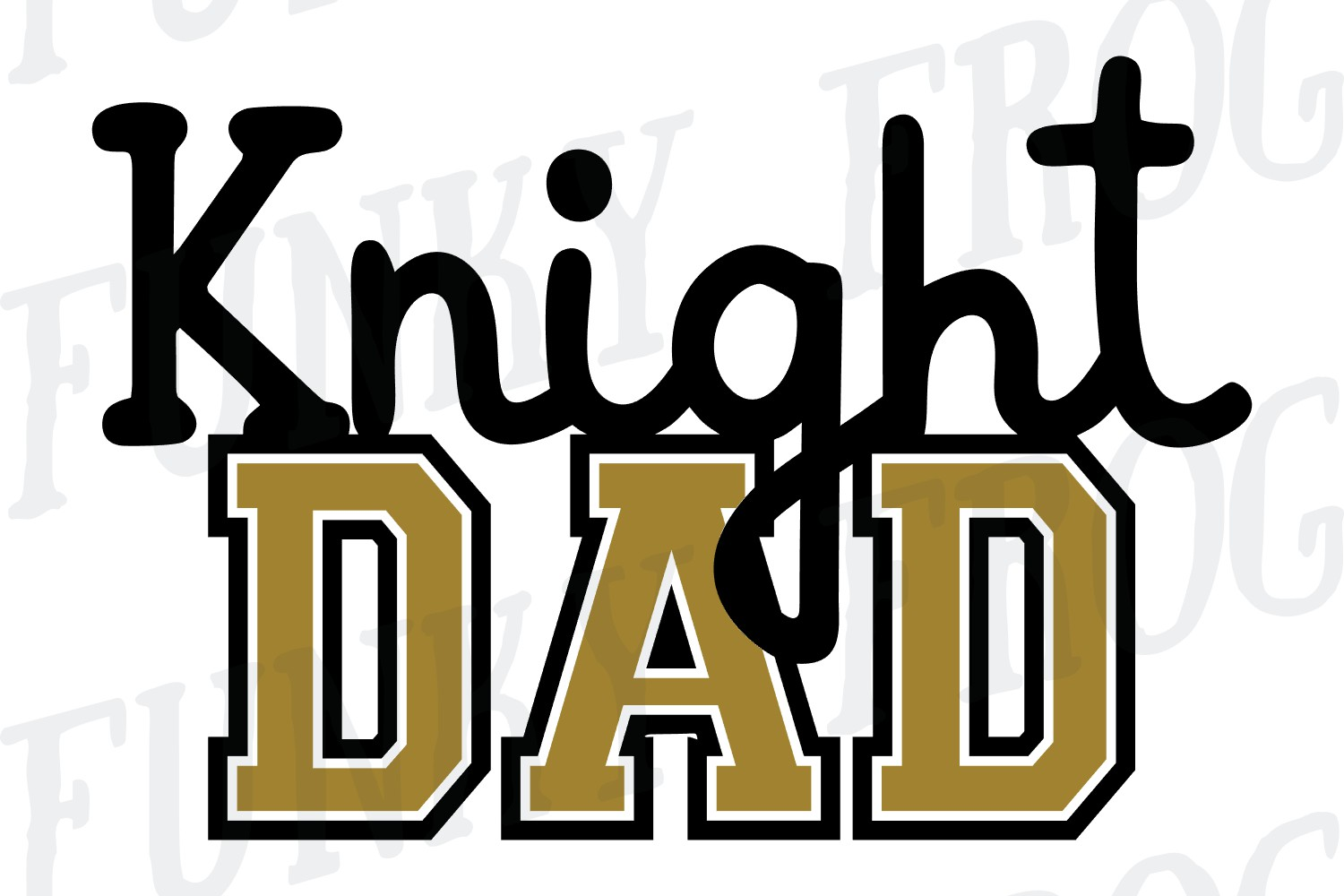 Knight Dad and Knight Mom SVG Cut File for Crafters example image 2