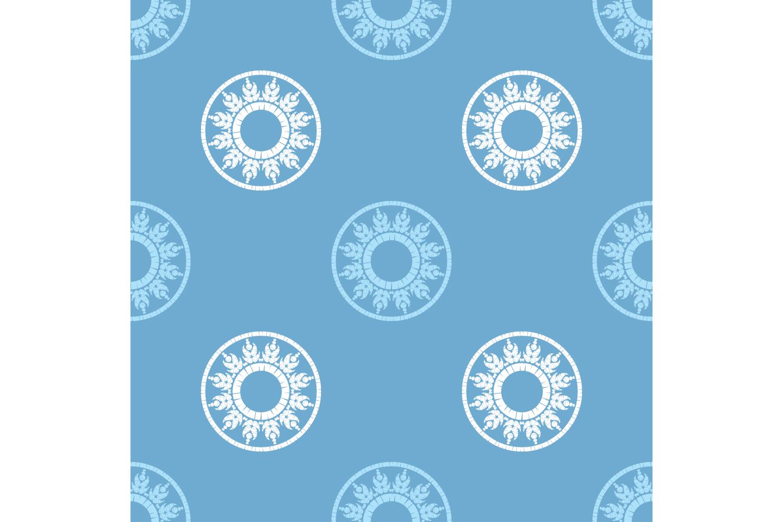 Polka dot ornament. Set of 10 seamless patterns. example image 5