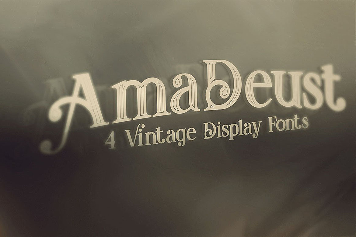 AmaDeust - Display Font example image 3