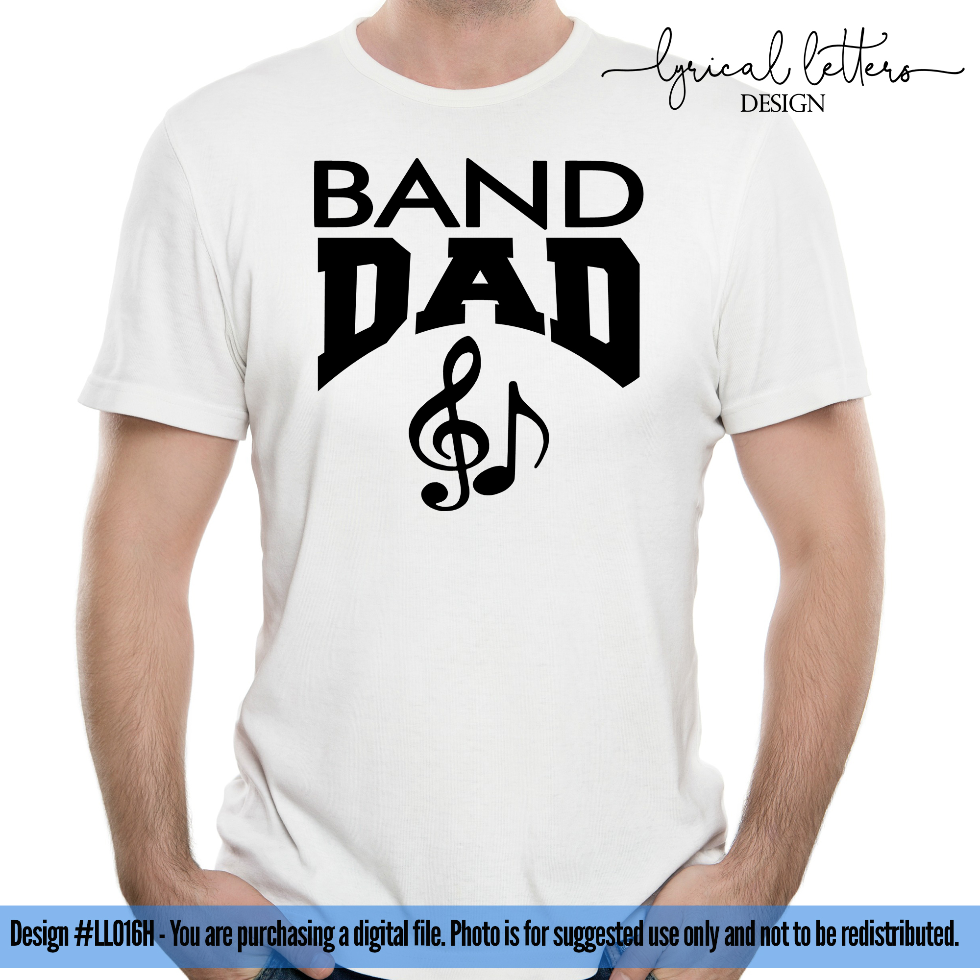 Band Dad Car Decal SVG DXF Cut File LL016H example image 2