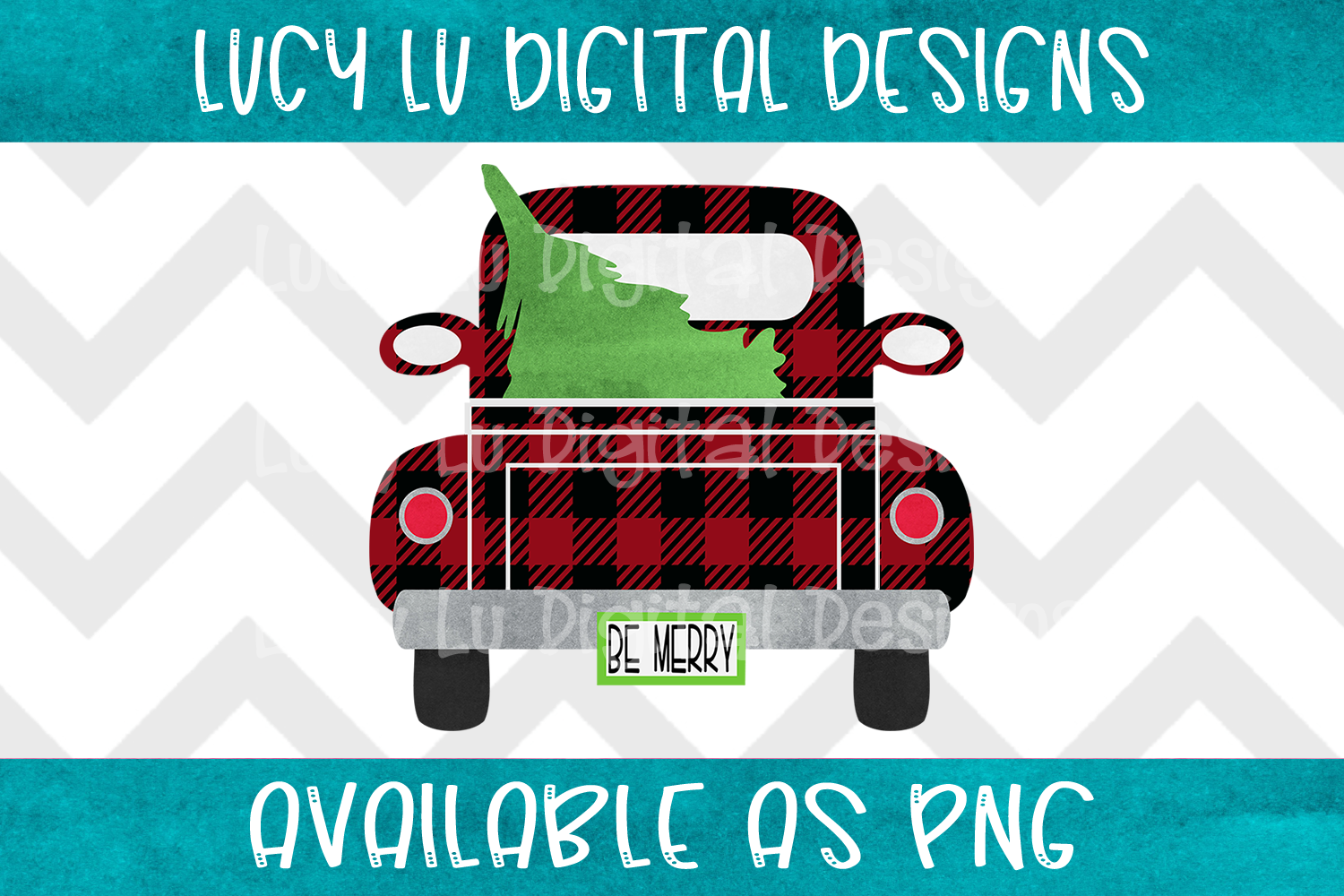Be Merry Buffalo Plaid Truck example image 1