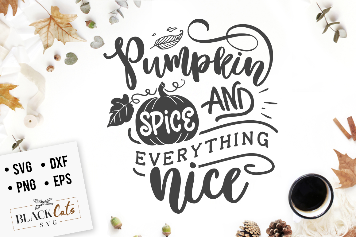 Pumpkin spice and everything nice SVG example image 2
