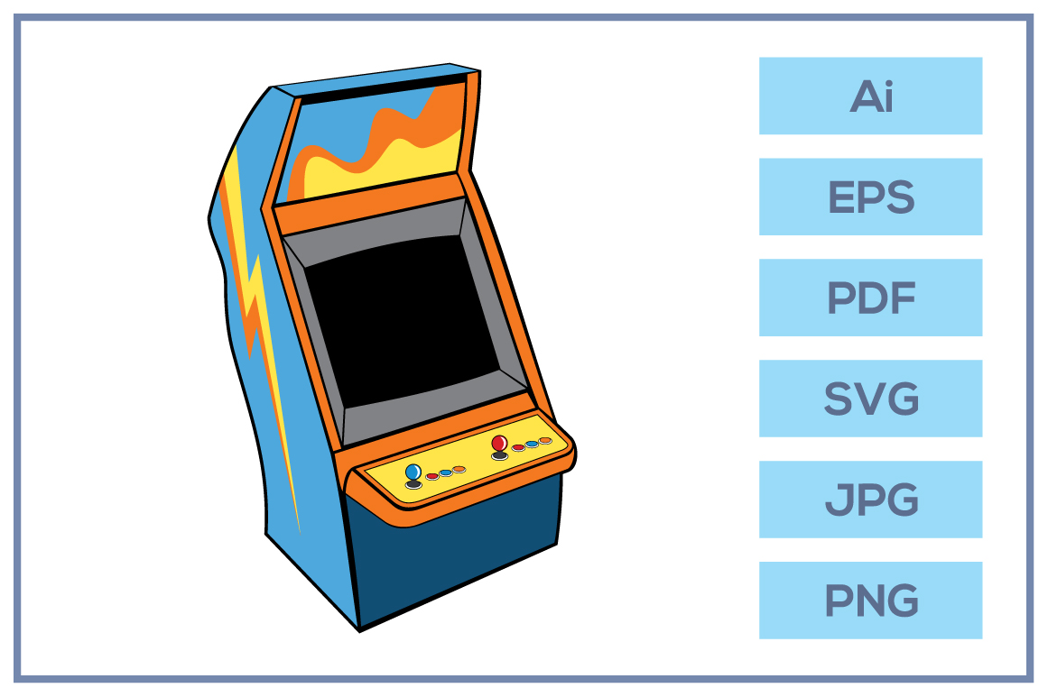 Vector of Classic game arcade console design example image 1