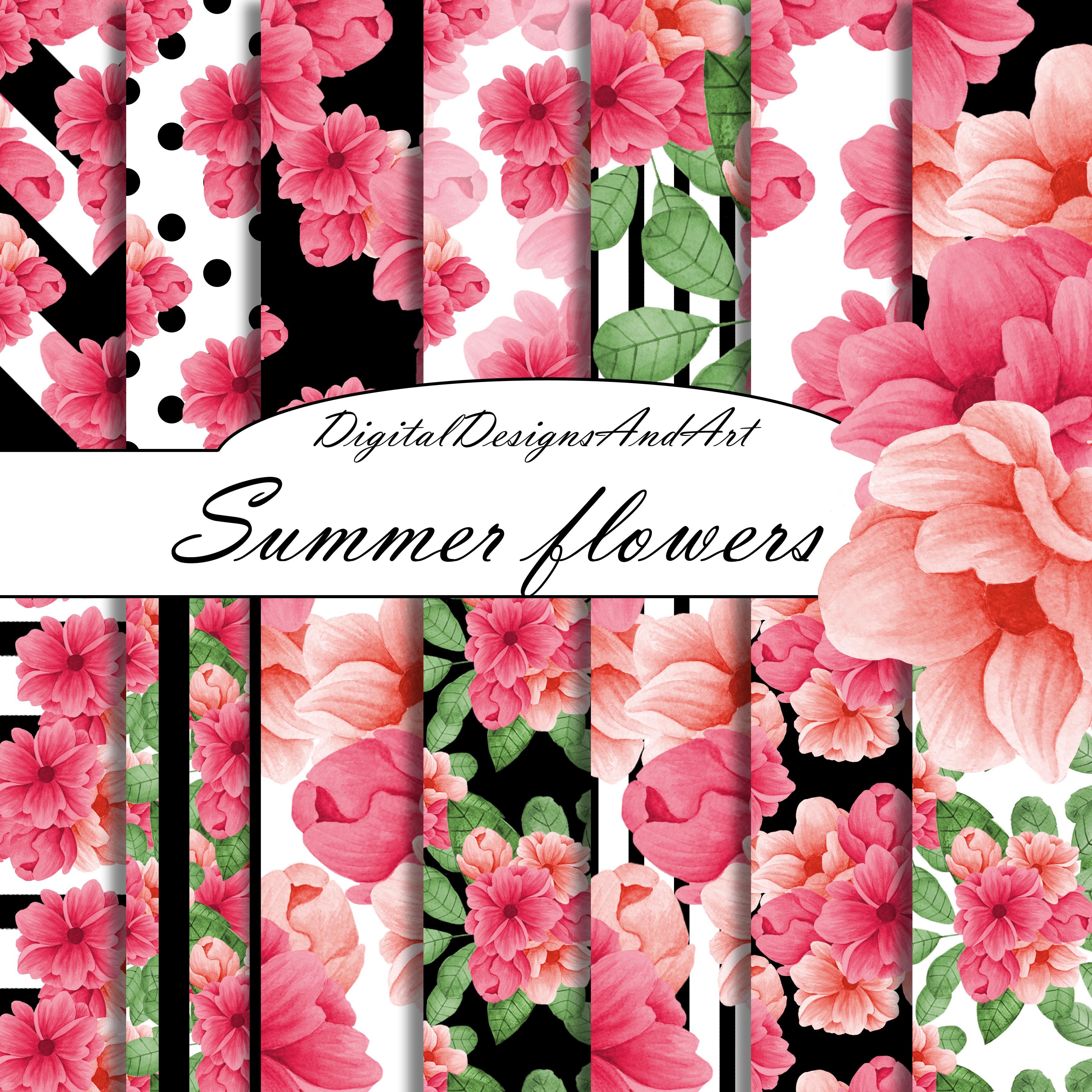 Pink Flower Digital Paper