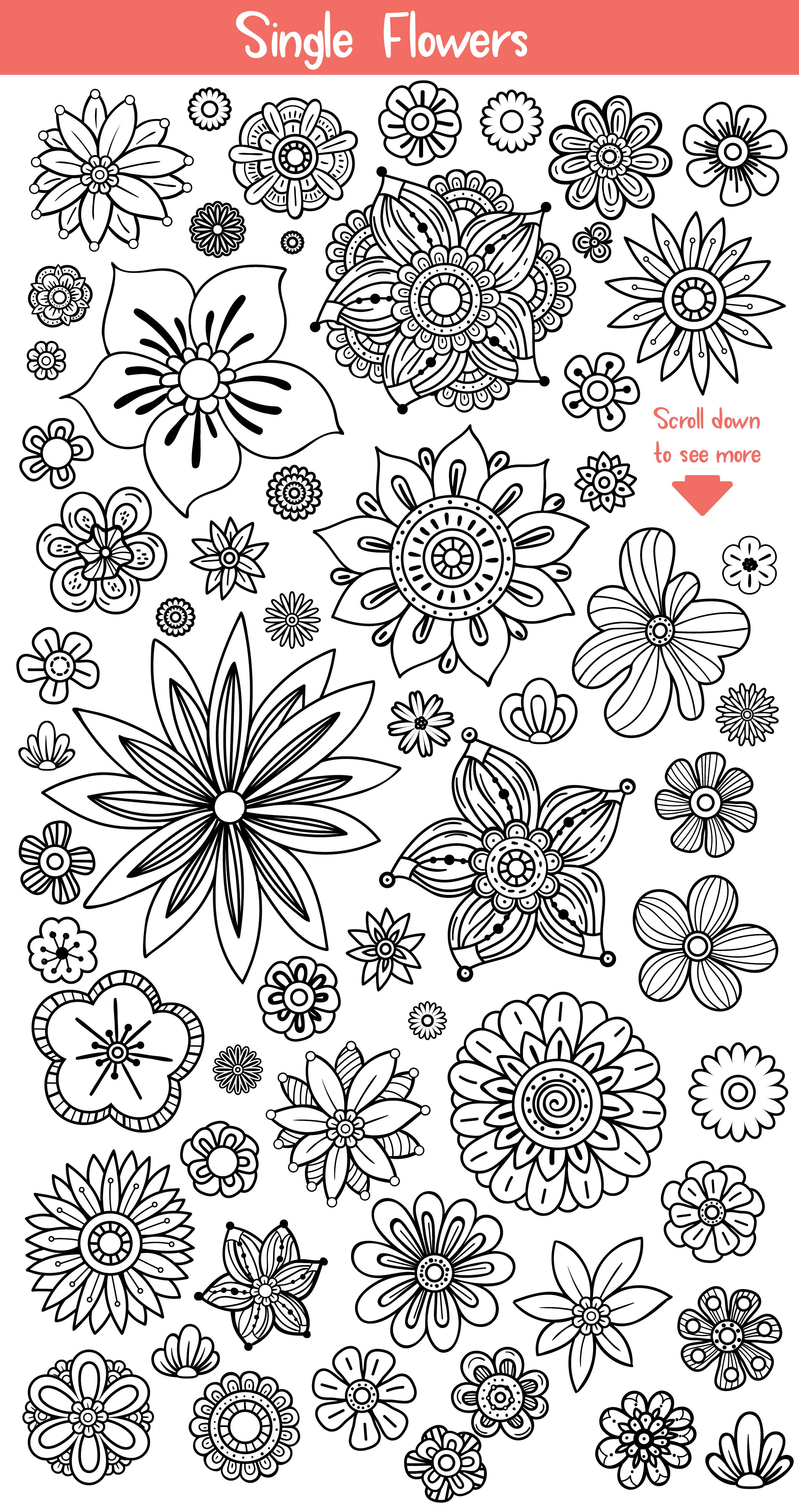 Floral Doodles Collection example image 2